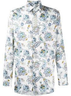 Etro рубашка Camicia с цветочным принтом