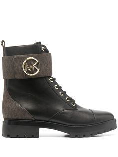 Michael Michael Kors ботинки в стиле милитари с логотипом