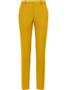 Fendi двухцветные брюки строгого кроя
