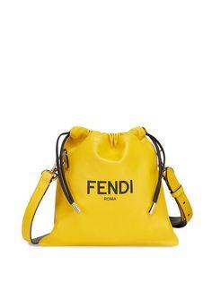 Fendi сумка на плечо с кулиской и логотипом