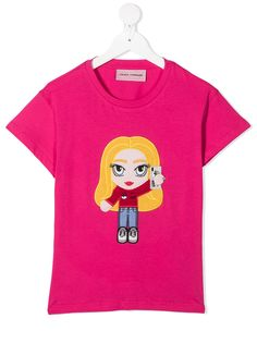 Chiara Ferragni Kids футболка Chiara с нашивкой