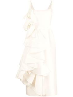 Parlor вечернее платье с каскадными оборками