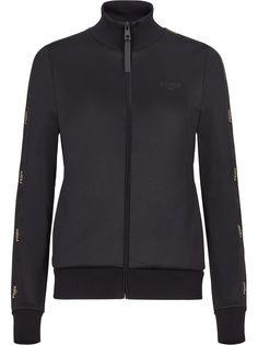 Fendi куртка на молнии с логотипом