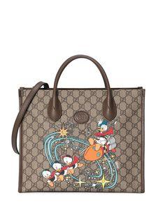 Gucci сумка-тоут Donald Duck из коллаборации с Disney