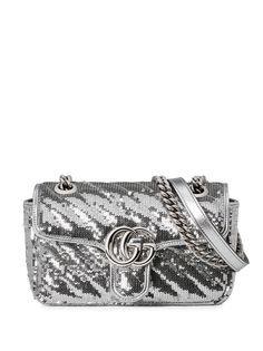 Gucci сумка на плечо GG Marmont с пайетками