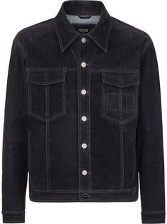 Fendi джинсовая куртка с нашивкой-логотипом