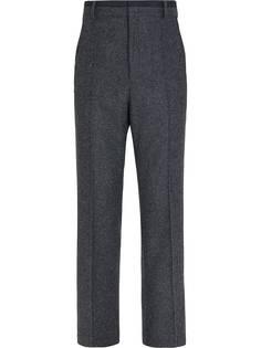 Fendi твидовые брюки строгого кроя