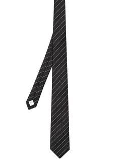 Burberry жаккардовый галстук с логотипом