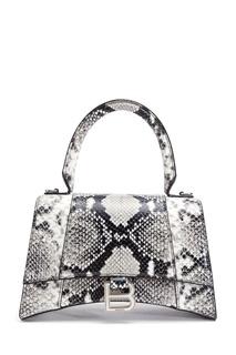 Черно белая сумка Hourglass Balenciaga