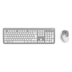 Комплект (клавиатура+мышь) HAMA KMW-700, USB 2.0, беспроводной, серебристый и белый [r1182676]