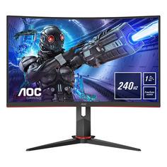 """Монитор игровой AOC Gaming C32G2ZE/BK 31.5"""" черный/красный"""