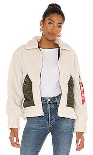 Куртка из искусственного меха sherpa - ALPHA INDUSTRIES