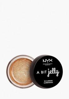 Хайлайтер Nyx Professional Makeup Makeup ABit Jelly Gel Illuminator, оттенок 02, Luminous, 15,8 мл
