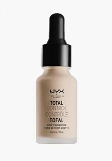 Тональное средство Nyx Professional Makeup Total Control Drop Foundation, оттенок 03, Porcelian, 13 мл