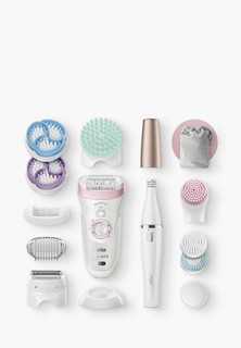 Набор Braun эпилятор и массажные насадки Silk-epil 9 Beauty Set SES 9-995