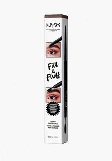 Карандаш для бровей Nyx Professional Makeup Fill & Fluff Eyebrow Pomade Pencil, оттенок 04 Chocolate, 0,2 г