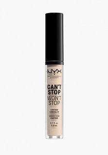 Консилер Nyx Professional Makeup Cant Stop Wont Stop Contour Concealer, оттенок 1.5 Fair, 3,5 мл