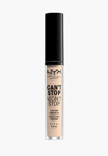 Консилер Nyx Professional Makeup Cant Stop Wont Stop Contour Concealer, оттенок 04 Light Ivory, 3,5 мл