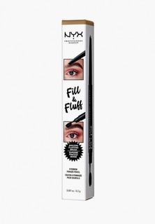 Карандаш для бровей Nyx Professional Makeup Fill & Fluff Eyebrow Pomade Pencil, оттенок 01 Blonde, 0,2 г