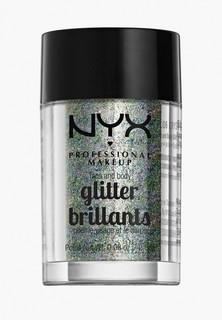 Глиттер Nyx Professional Makeup Face & Body Glitter, оттенок 06, Crystal, 2,5 г