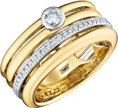 Золотые кольца Кольца Арт-Модерн 010664-ZH/B