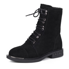Ботинки Черные ботинки из велюра на шерсти Respect