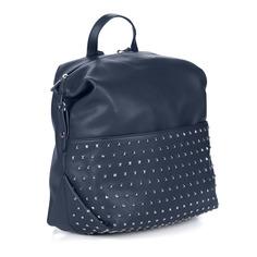 Рюкзаки Синий рюкзак трансформер из экокожи Portofiano
