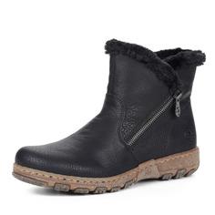 Ботинки Черные ботинки из экокожи без шнуровки Rieker