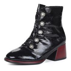 Ботинки Черные ботинки с декором на устойчивом каблуке Rieker