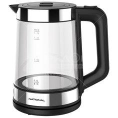 Чайник электрический стеклянный National NK-KE17322, 1.7 л, 2.2 кВт