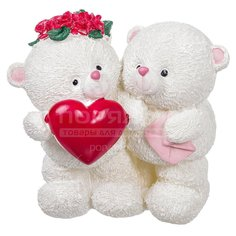 Фигурка декоративная Белые мишки-Любовь Y6-2239 I.K, 10.5 см