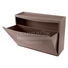Комод обувница Бытпласт С32814 коричневый, 51.2х18.5х38 см