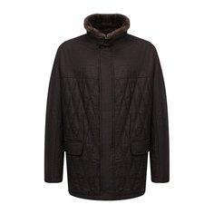 Шерстяная куртка с меховой отделкой Canali