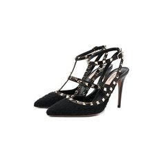 Комбинированные туфли Valentino Garavani Rockstud Valentino