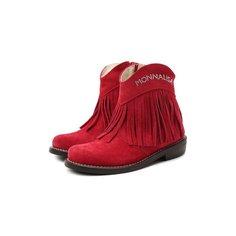 Замшевые ботинки Monnalisa