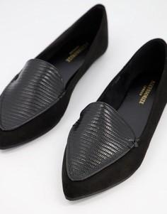 Черные балетки с острым носком Accessorize-Черный