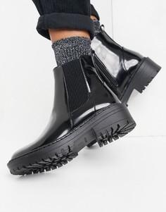 Черные ботинки челси на плоской подошве RAID Palma-Черный