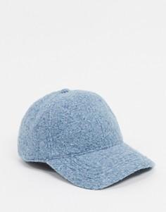 Бледно-голубая фактурная бейсболка ASOS DESIGN-Голубой