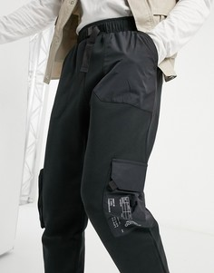 Черные джоггеры карго adidas-Черный