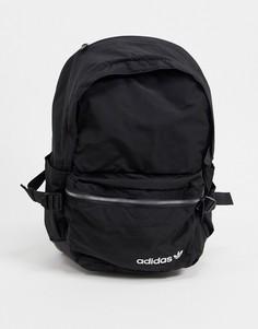 Черный рюкзак с карманом спереди adidas Originals