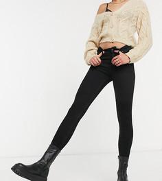 Черные джинсы скинни с высокой талией Bershka Tall-Черный