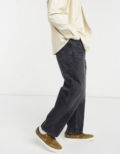 Черные широкие джинсы Bershka-Голубой