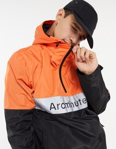 Черная куртка-анорак Arcminute-Оранжевый
