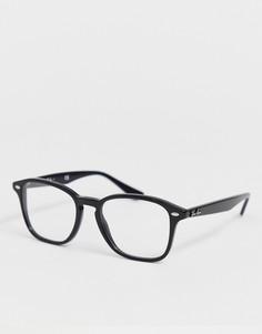 Черные блестящие очки в квадратной оправе Ray-Ban-Черный