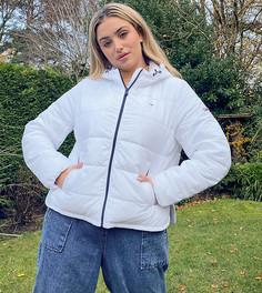 Белый пуховик Tommy Jeans Plus
