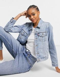 Светлая джинсовая куртка Levis Original-Голубой
