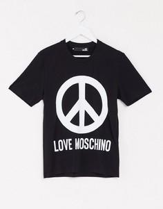 Футболка с принтом логотипа Love Moschino-Черный