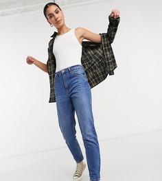 Синие джинсы в винтажном стиле Bershka Tall-Голубой