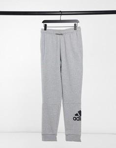 Серые джоггеры с логотипом adidas Training-Серый