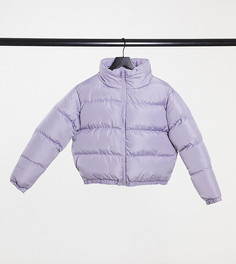 Укороченный пуховик Katy от Threadbare Petite-Фиолетовый